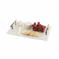 Go Home Morton Marble Cheese Tray and Knife