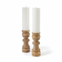 Go Home Pair of Ewing Candleholders