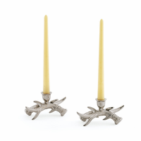 Go Home Pair Of Stag Candleholders