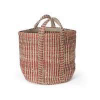 Go Home Red And Natural Hemp Basket