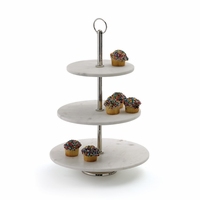 Go Home Round Marble Fruit Stand