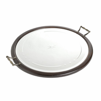 Go Home Round Mirrored Tray