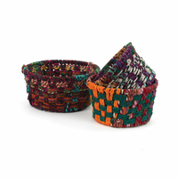 Go Home Round Woven Fabric Baskets