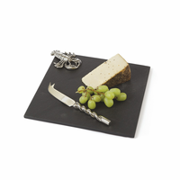 Go Home Scarlet Cheese Platter and Knife Set