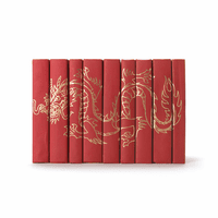 Go Home Set of Nine Gold Dragon On Red Books