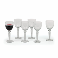 """Go Home Set of Six Coil """"Red Wine"""" Goblets"""