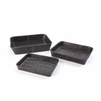 Go Home Set of Three Belford Leather Trays