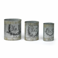 Go Home Set of Three French Numbered Tins