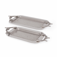 Go Home Set of Two Antler Trays