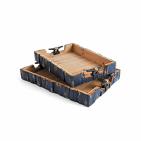 Go Home Set of Two Cleat Handle Trays