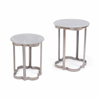 Go Home Set of Two Clover Iron Tables