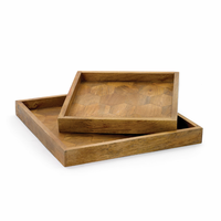 Go Home Set of Two Honeycomb Trays