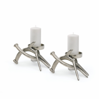 Go Home Set Of Two Hunt Style Pillar Holders