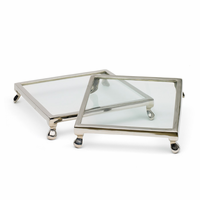 Go Home Set of Two Square Cake Stands