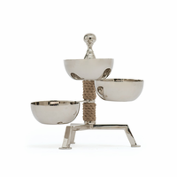 Go Home Spinning Three Part Dish On Rope Stand