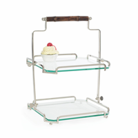 Go Home Two Tier Bamboo Handle Stand