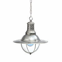Go Home Vintage Style Factory Light with Glass Dome