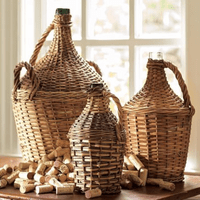 Go Home Wicker Wrapped Demijohn-Large