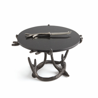 Go Home Wyoming Cake Stand and Knife
