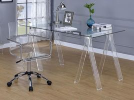 COASTER GLASS TOP AND ACRYLIC LEGS CLEAR DESK 801535