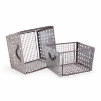 Go Home Set of Two Industrial Wire Bins