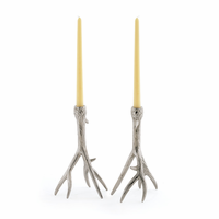 Go Home Pair Of Outback Candleholders