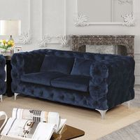 HURON NAVY BLUE FABRIC LOVE SEAT  CM6778-LV