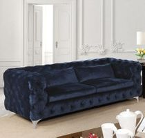 HURON NAVY BLUE FABRIC SOFA CM6778-SF