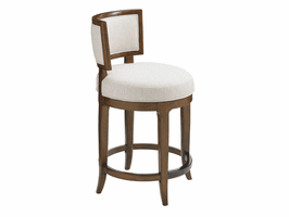 Island Fusion TH-556-815-02 Macau Swivel Counter Stool - Ships Assembled