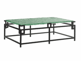 Island Fusion TH-556-947C Hermes Reef Glass Top Cocktail Table