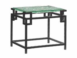 Island Fusion TH-556-953C Hermes Reef Glass Top End Table