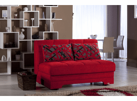 Istikbal Loveseat Sleeper Sofa Double Size In Red or Brown