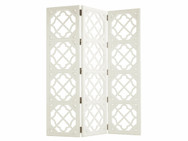 Ivory Key TH-543-959 Abbotts Landing Folding Screen