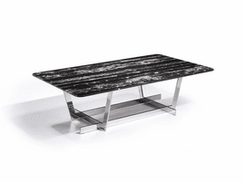 J & M Furniture Carrara Marble Coffee Table