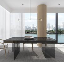 J & M Furniture Cloud Modern Dining Table in Grey High Gloss