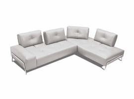 J & M Furniture I763 Sectional RHF Chaise in Light Grey