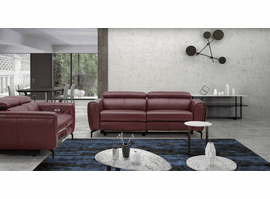 J & M Furniture Lorenzo Merlot Sofa