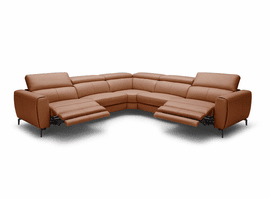 J & M Furniture Lorenzo Motion Sectional In Rust