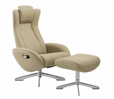 J & M Furniture Maya Chair and Ottoman in Nomad