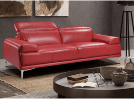 J & M Furniture Nicolo Love Seat in Red