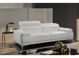 J & M Furniture Nicolo Love Seat in White