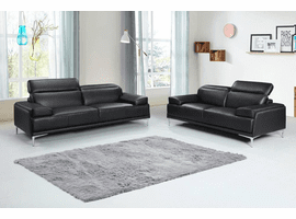 J & M Furniture Nicolo Sofa in Black