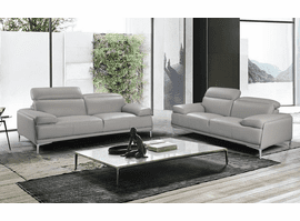 J & M Furniture Nicolo Sofa in Light Grey