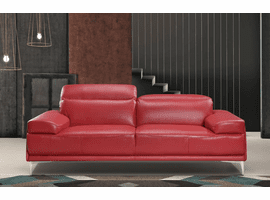 J & M Furniture Nicolo Sofa in Red