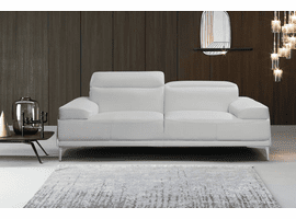J & M Furniture Nicolo Sofa in White