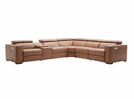 J & M Furniture Picasso 6Pc Motion Sectional in Caramel