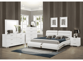 Jeremaine Eastern King Upholstered Platform Bed White Set