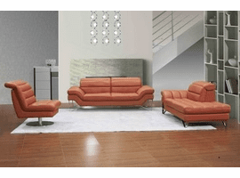 jnm Astro Sofa and Chaise in Pumpkin