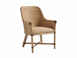 Los Altos TH-566-883-01 Keeling Woven Arm Chair - Ships Assembled