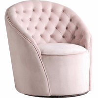 Meridian Furniture Alessio Velvet Accent Chair Pink